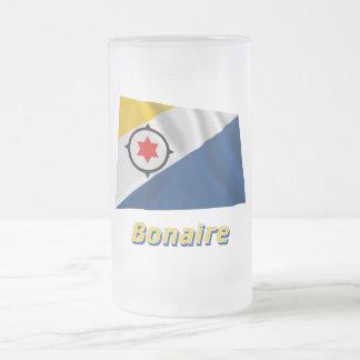 Bandera que agita de Bonaire con nombre Tazas De Café