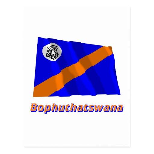 Bandera que agita de Bophuthatswana con nombre Postal