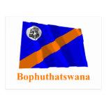 Bandera que agita de Bophuthatswana con nombre Tarjeta Postal