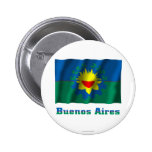 Bandera que agita de Buenos Aires con nombre Pin