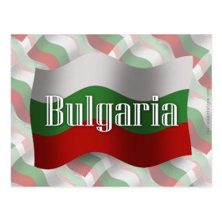 Bandera que agita de Bulgaria Tarjeta Postal