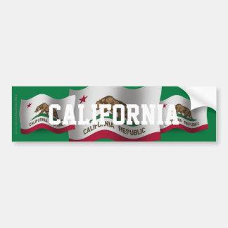 Bandera que agita de California Pegatina Para Auto