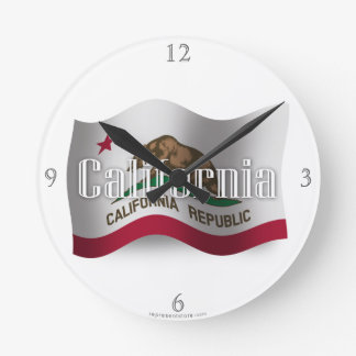Bandera que agita de California Reloj