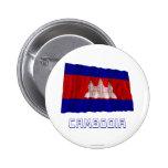 Bandera que agita de Camboya con nombre Pin