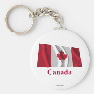 Bandera que agita de Canadá con nombre Llaveros Personalizados