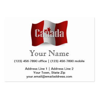 Bandera que agita de Canadá Tarjetas De Visita Grandes