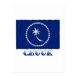 Bandera que agita de Chuuk, con nombre Tarjetas Postales
