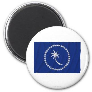 Bandera que agita de Chuuk Imán Redondo 5 Cm