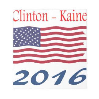 Bandera que agita de Clinton Kaine Bloc