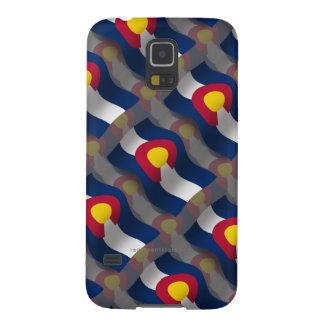 Bandera que agita de Colorado Funda De Galaxy S5