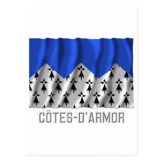 Bandera que agita de Côtes-d'Armor con nombre Postal