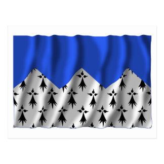 Bandera que agita de Côtes-d'Armor Postal