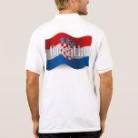 Bandera que agita de Croacia Camisetas