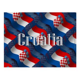 Bandera que agita de Croacia Tarjeta Postal