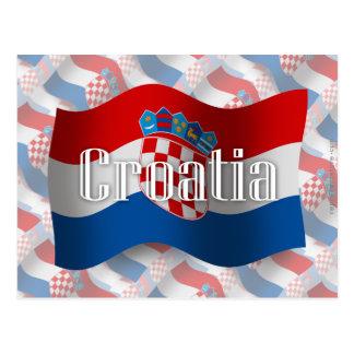 Bandera que agita de Croacia Postales
