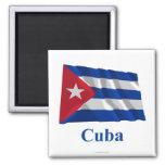 Bandera que agita de Cuba con nombre Imán
