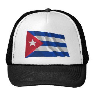 Bandera que agita de Cuba Gorras