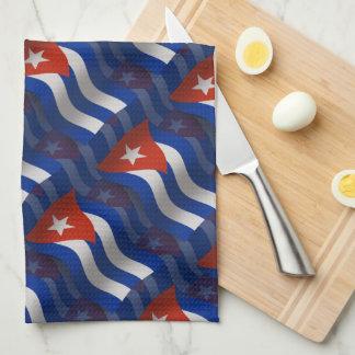 Bandera que agita de Cuba Toallas