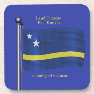 Bandera que agita de Curaçao Posavasos De Bebidas