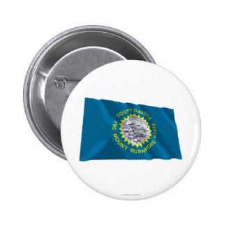 Bandera que agita de Dakota del Sur Pins