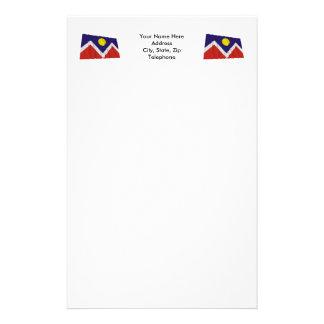 Bandera que agita de Denver Papelería Personalizada