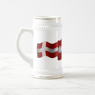 Bandera que agita de Dinamarca Tazas De Café