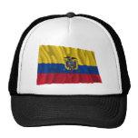 Bandera que agita de Ecuador Gorros