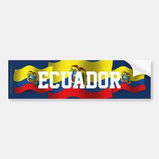 Bandera que agita de Ecuador Pegatina Para Auto