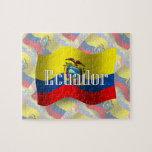 Bandera que agita de Ecuador Puzzle Con Fotos