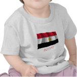Bandera que agita de Egipto con nombre Camisetas