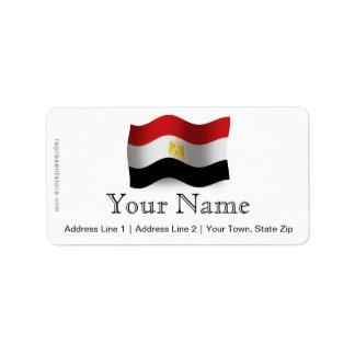 Bandera que agita de Egipto Etiqueta De Dirección