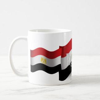 Bandera que agita de Egipto Taza De Café