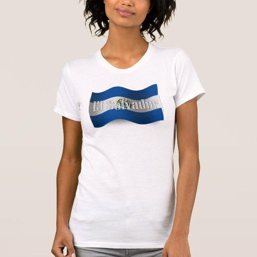 Bandera que agita de El Salvador Camisetas