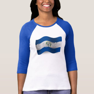 Bandera que agita de El Salvador Camiseta