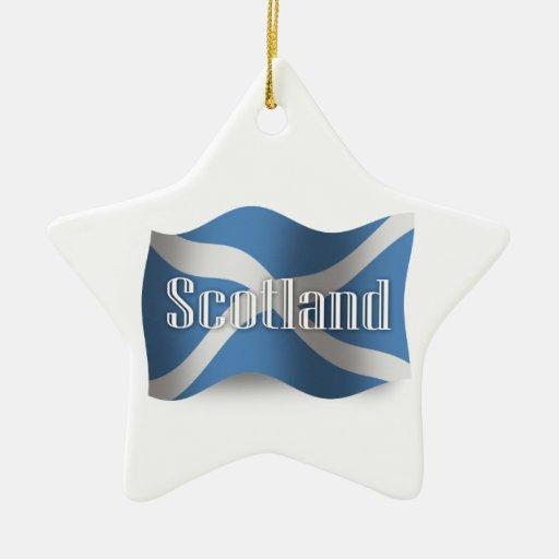 Bandera que agita de Escocia Adorno De Cerámica En Forma De Estrella