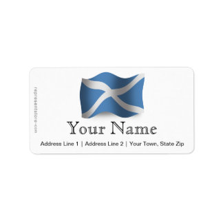 Bandera que agita de Escocia Etiquetas De Dirección