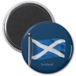 Bandera que agita de Escocia Imán De Frigorifico