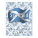 Bandera que agita de Escocia Invitación 10,8 X 13,9 Cm