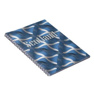Bandera que agita de Escocia Cuadernos