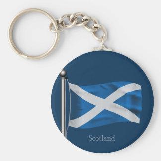 Bandera que agita de Escocia Llaveros Personalizados