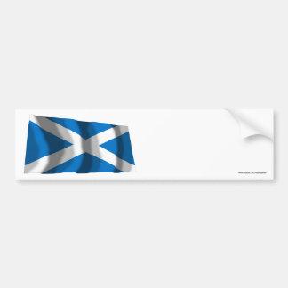 Bandera que agita de Escocia St Andrew Pegatina Para Auto