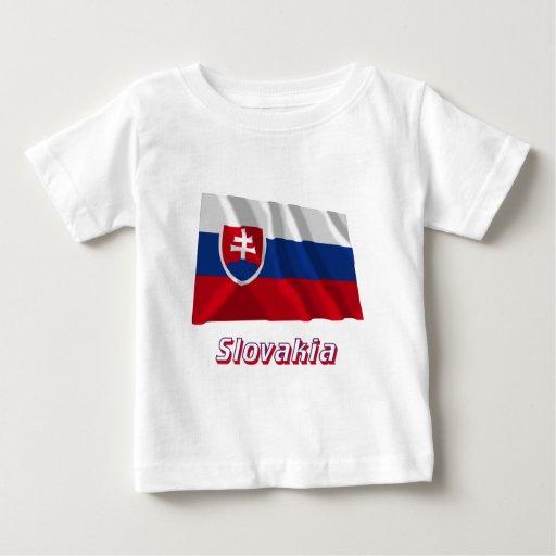 Bandera que agita de Eslovaquia con nombre Playera