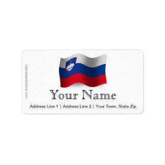 Bandera que agita de Eslovenia Etiqueta De Dirección