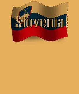 Bandera que agita de Eslovenia Playera