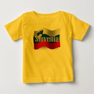 Bandera que agita de Eslovenia Playera De Bebé
