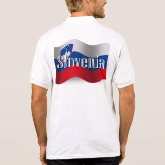 Bandera que agita de Eslovenia Polo