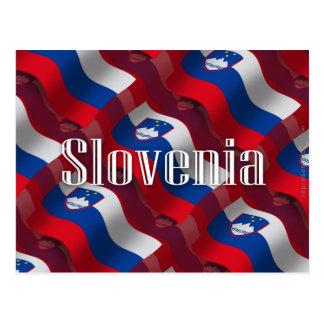 Bandera que agita de Eslovenia Postal