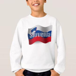 Bandera que agita de Eslovenia Sudadera