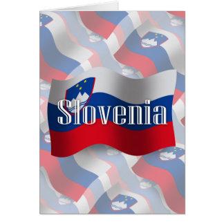 Bandera que agita de Eslovenia Tarjeta De Felicitación