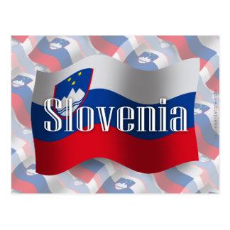 Bandera que agita de Eslovenia Tarjetas Postales